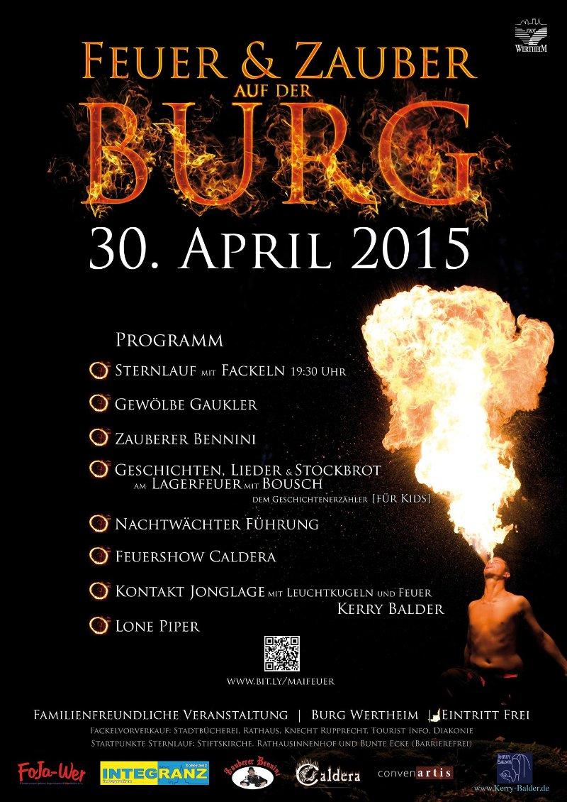 Feuer & Zauber auf der Burg , 30.April.2015