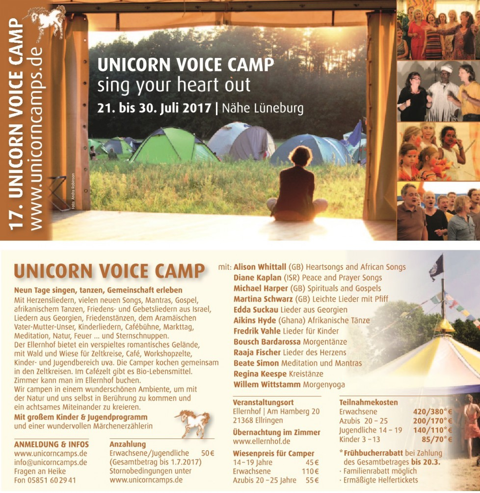 Unicorn Voice Camp 2017